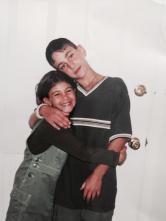 Marc with his sister Elisa