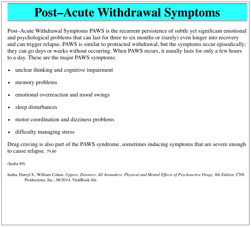 Uncategorized Post Acute Withdrawal Syndrome Worksheet addiction is a family affair we all need recovery heroin stop click image to enlarge post acute withdrawal symptoms